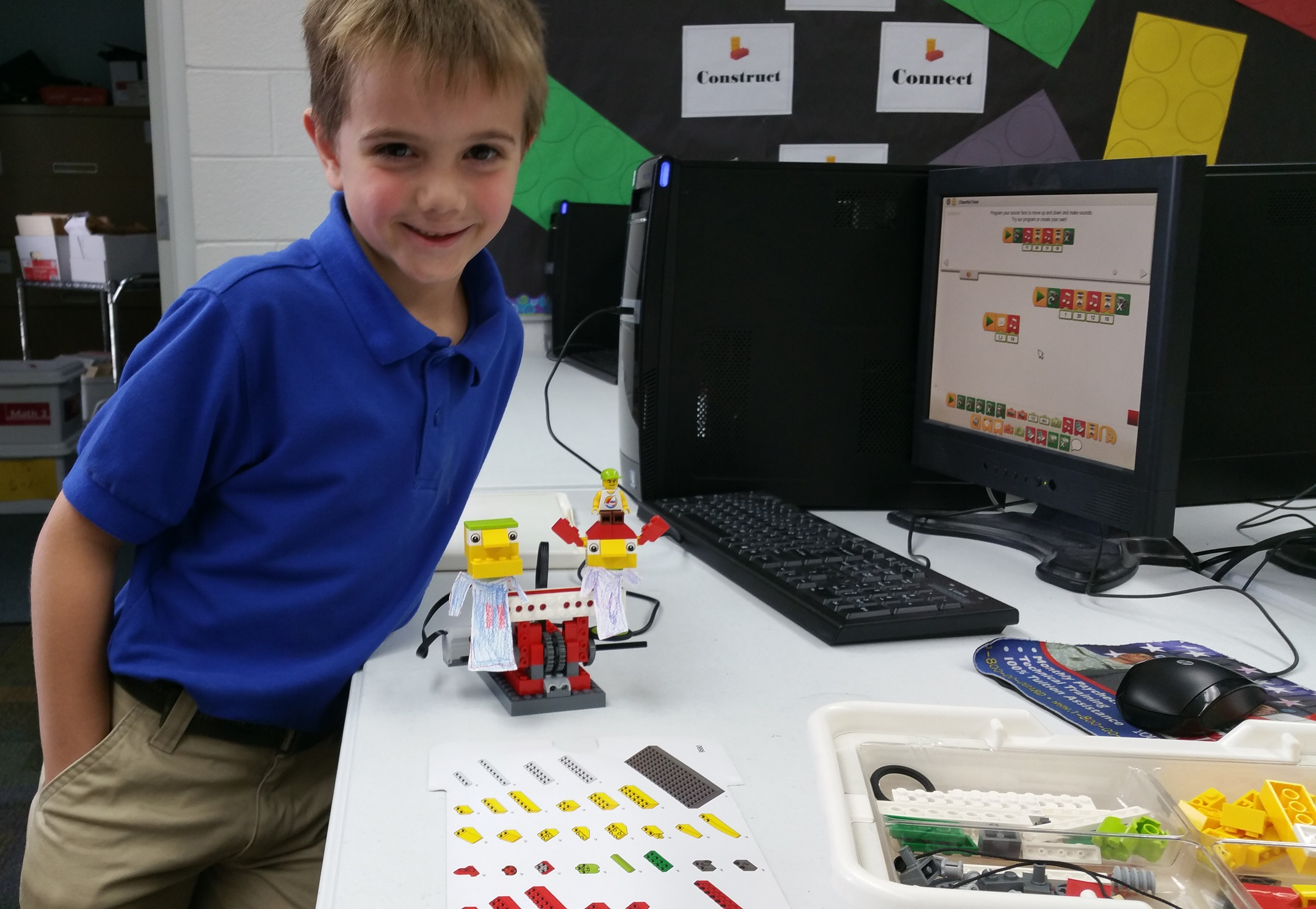 2nd graders Lego Robotics